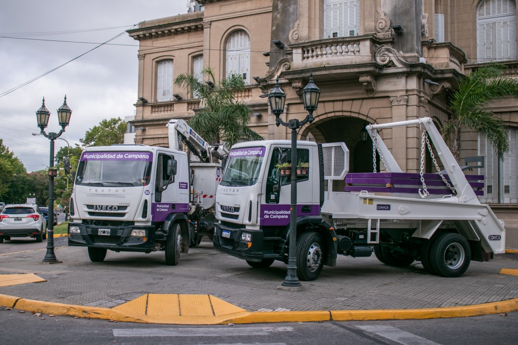 Abella presentó nuevas unidades que optimizarán las tareas de mantenimiento en barrios