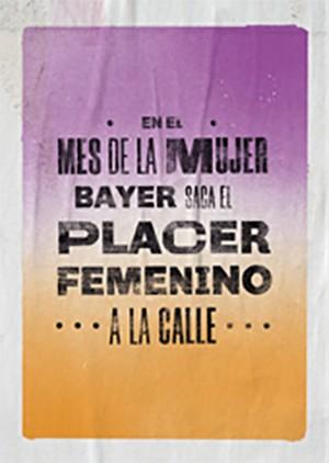En el mes de la Mujer, Bayer saca el placer femenino a la calle