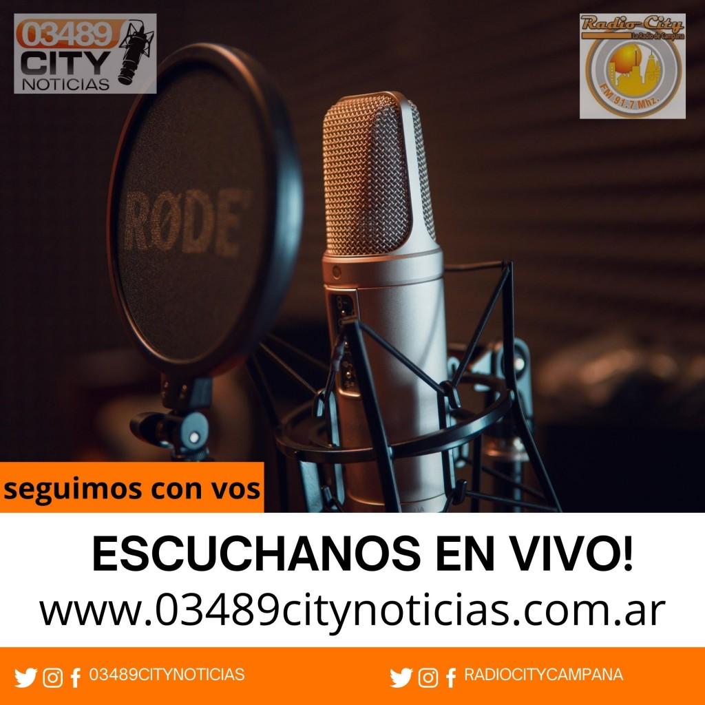 RADIO CITY CAMPANA FM 91.7 Mhz CUMPLE HOY 32 AÑOS EN EL AIRE