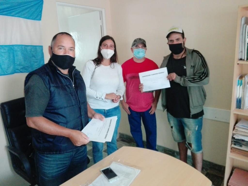 Elisa Abella acompañó el cierre de los cursos brindados por la agrupación CAMPANA FEDERAL