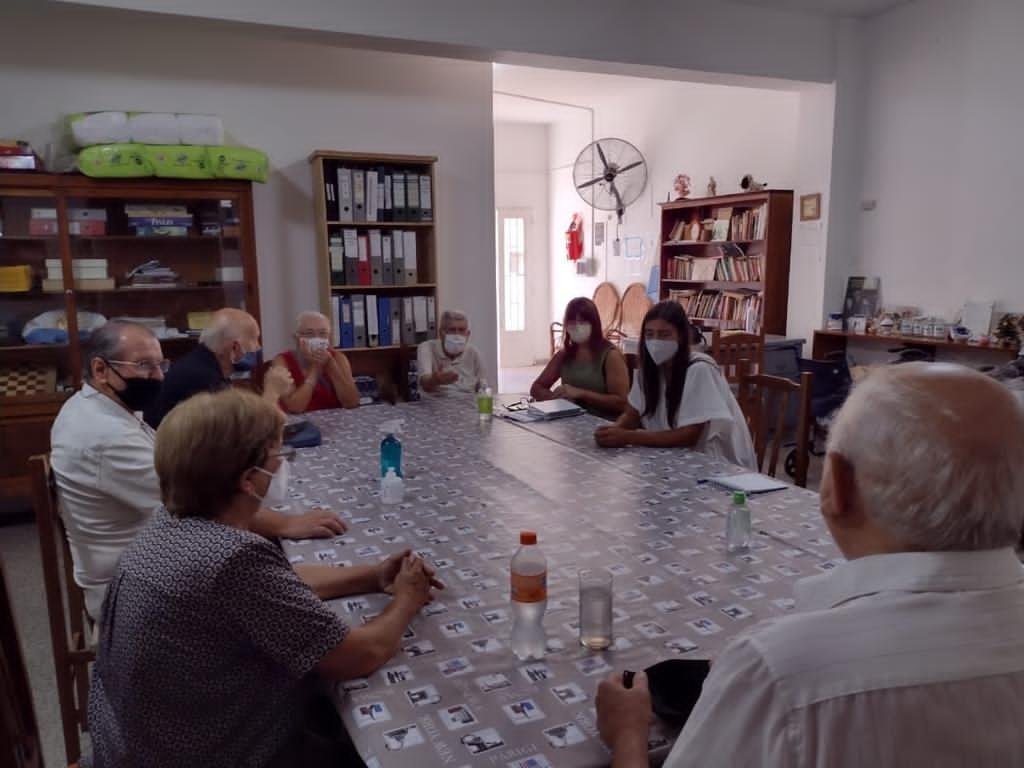 Desde la Secretaría de Desarrollo Social dialogan con centros de jubilados de la ciudad