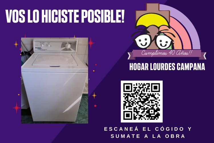 Gracias a donaciones individuales y de empresas, el Hogar de Niños compró un lavarropas industrial