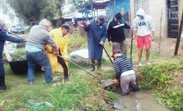"""Un intenso trabajo del municipio evitó que se inundara el asentamiento """"21 de Septiembre"""""""