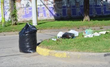 Desde el Municipio solicitan no depositar residuos en los parterres