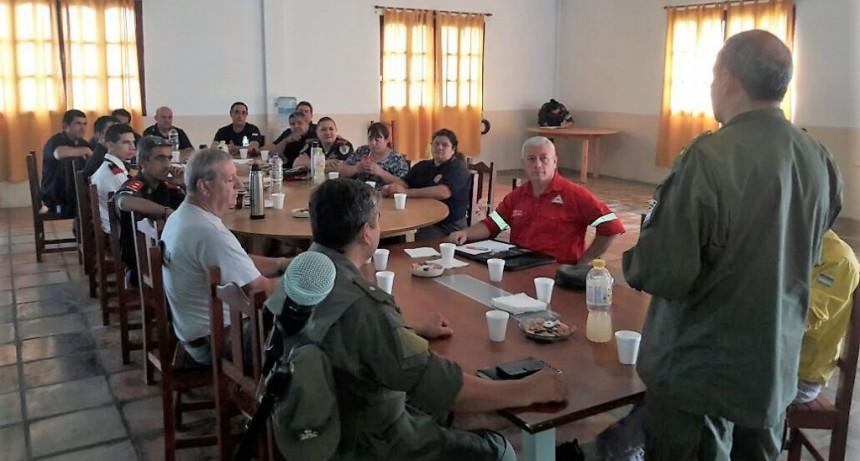 Defensa Civil participó de una reunión para reforzar la seguridad en la zona