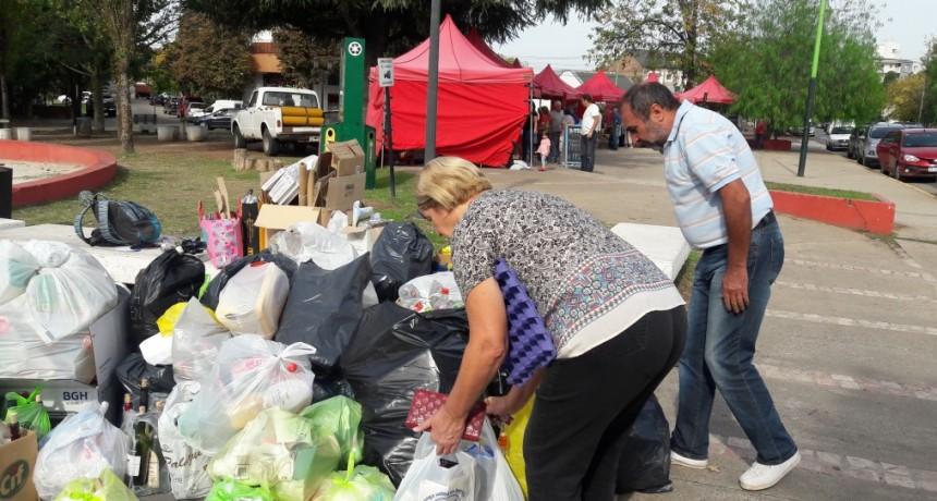 En el primer trimestre del año, Campana Punto Verde recuperó 3.577 kilos de reciclables
