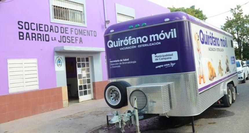 En un nuevo operativo de castraciones, el Quirófano Móvil visitará Las Campanas
