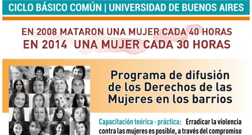 CBC Campana: llega el programa de difusión de los Derechos de las Mujeres en los barrios