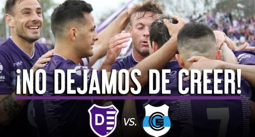 Promoción de Villa Dálmine para el partido frente a Gimnasia y Esgrima de Jujuy