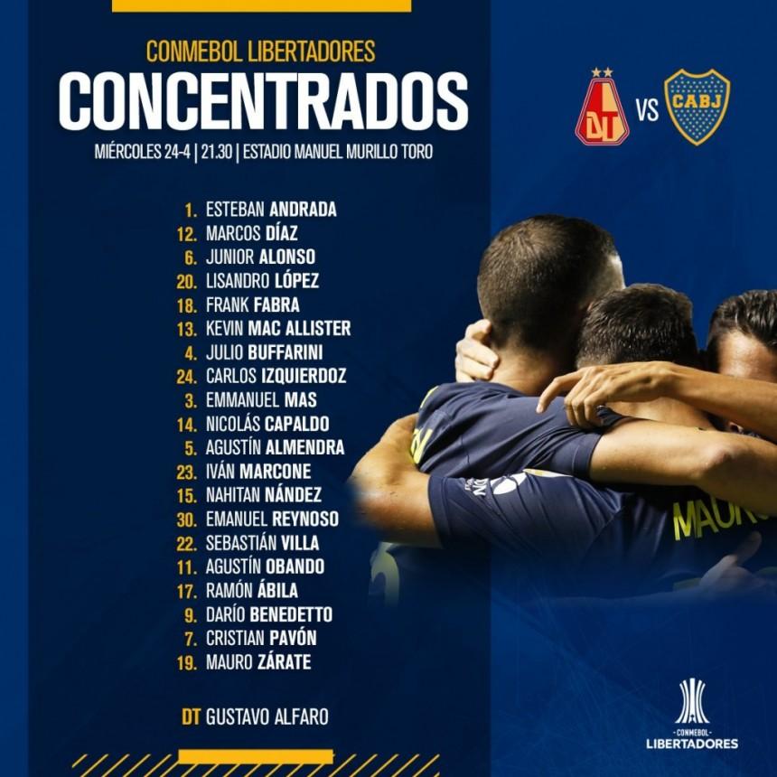 Boca Juniors ya está en Colombia