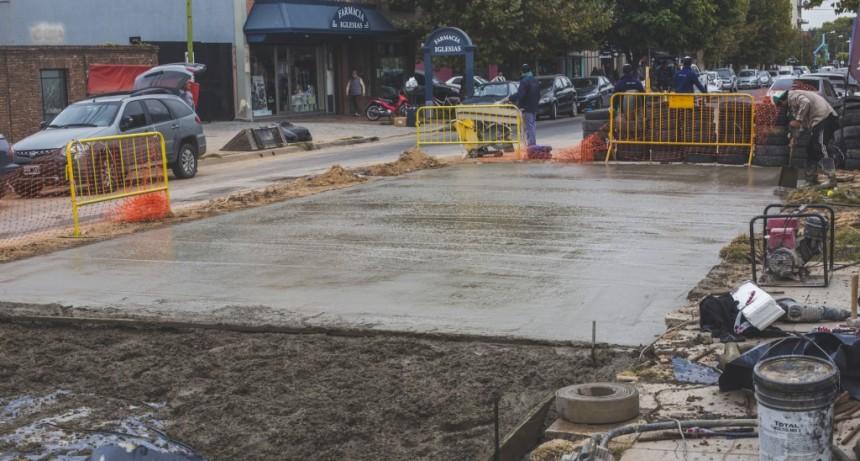 Plan de Bacheo Urbano: hormigonaron la avenida Mitre