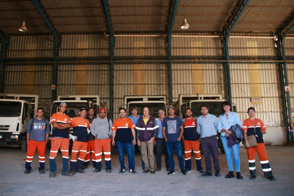 El Intendente reconoció el trabajo de los recolectores de residuos durante la cuarentena