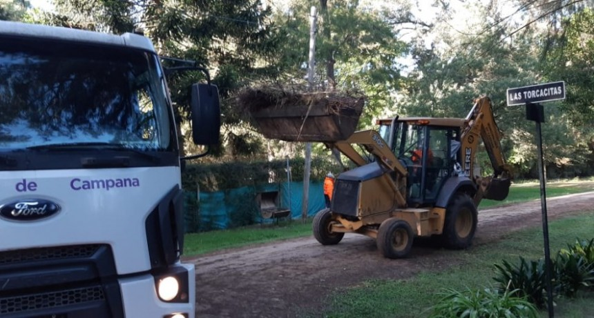 El Municipio realizó tareas de mantenimiento en Parque Natura