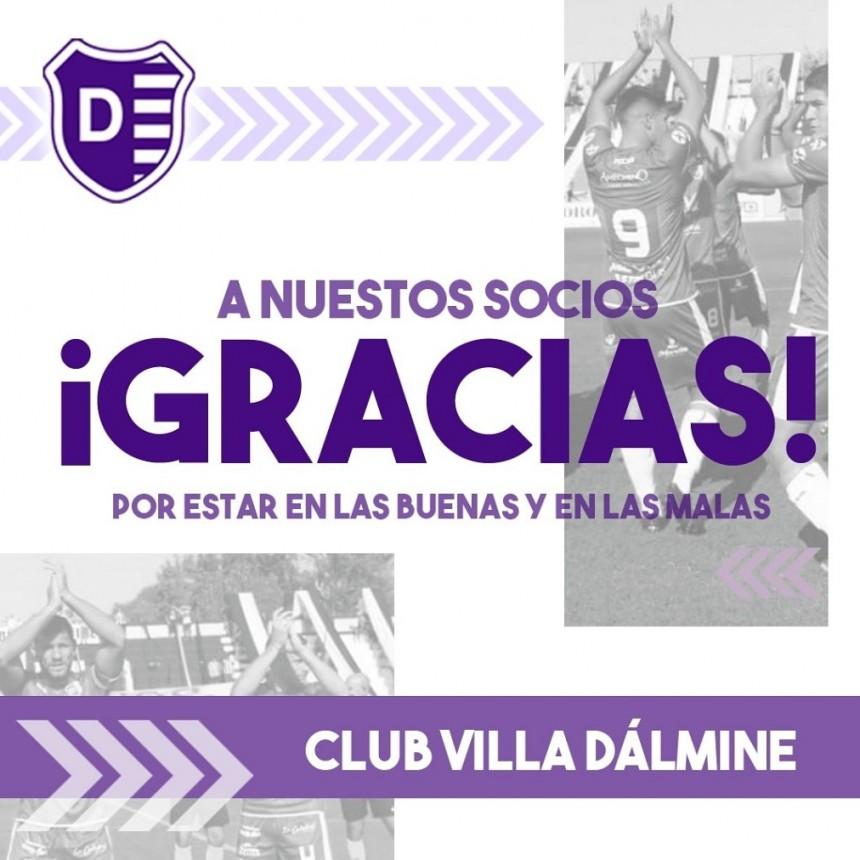 La Comisión Directiva del Club Villa Dálmine agradece