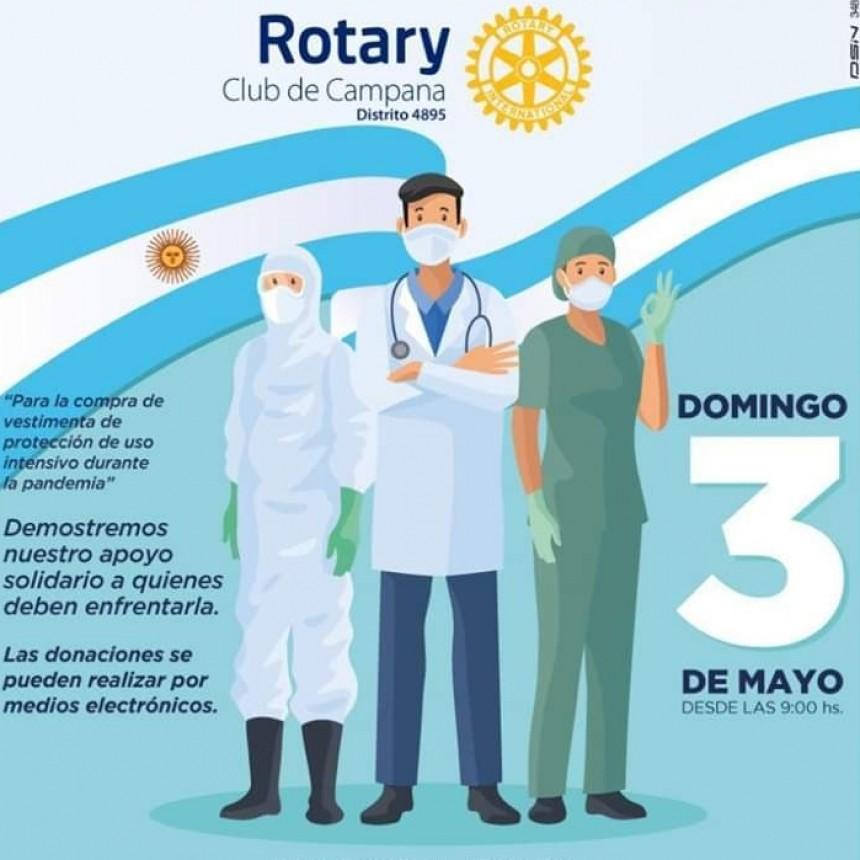 ROTARY CLUB CAMPANA :  MAÑANA SOLIDARIA POR EL PERSONAL MEDICO DEL HOSPITAL SAN JOSE