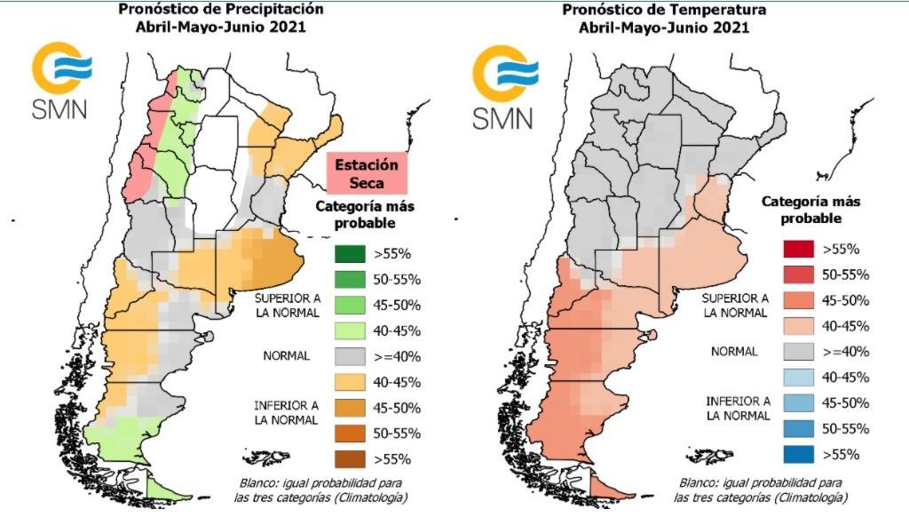 Pronóstico Climático para el trimestre abril- mayo- junio 2021