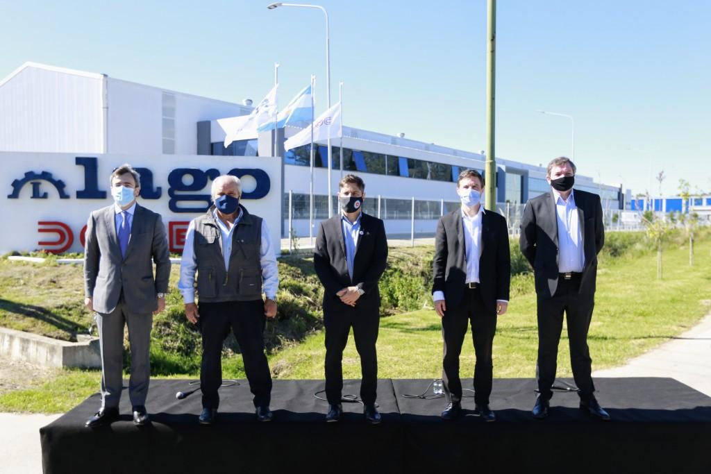 PRODUCCIÓN  Kicillof, Costa y Granados encabezaron la habilitación  del Parque Industrial de Ezeiza