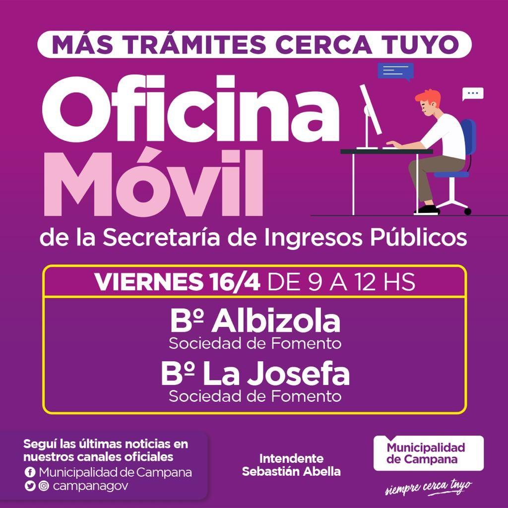 La Secretaría de Ingresos Públicos visitará este viernes dos nuevos barrios