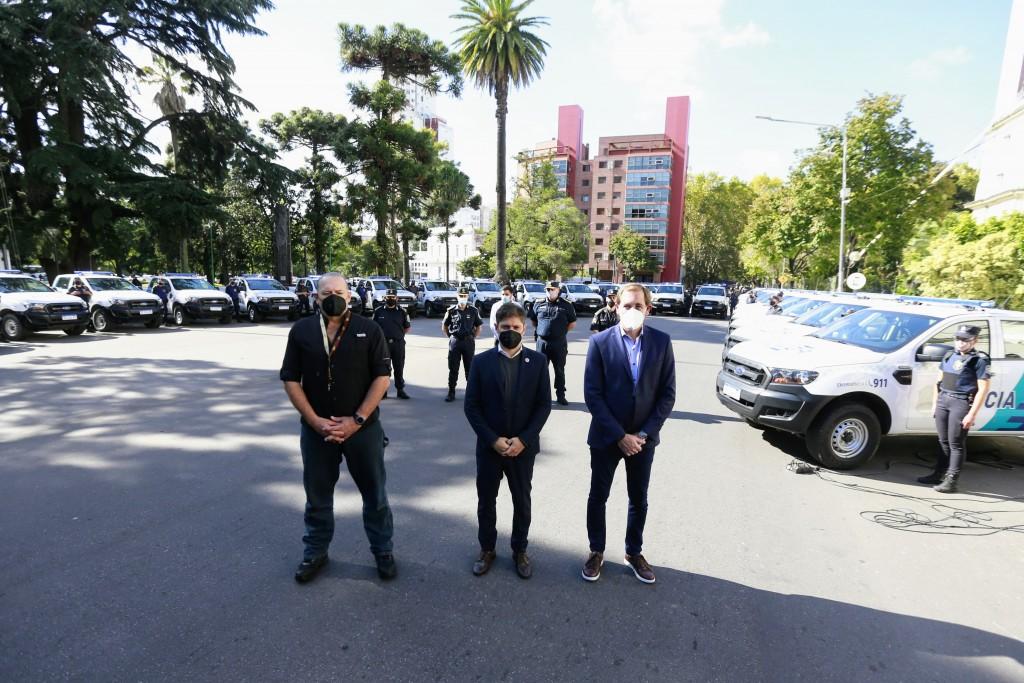 SEGURIDAD  Kicillof puso en marcha 60 nuevos patrulleros para el municipio de La Plata