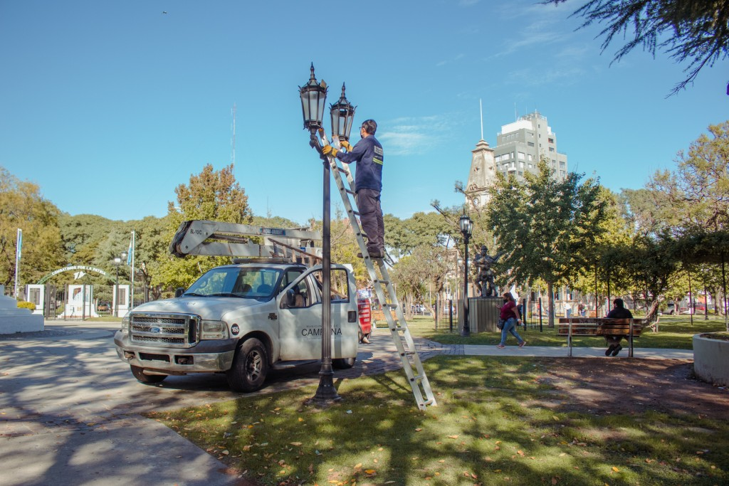 Se completó la reconversión a LED del alumbrado público en la Rocca