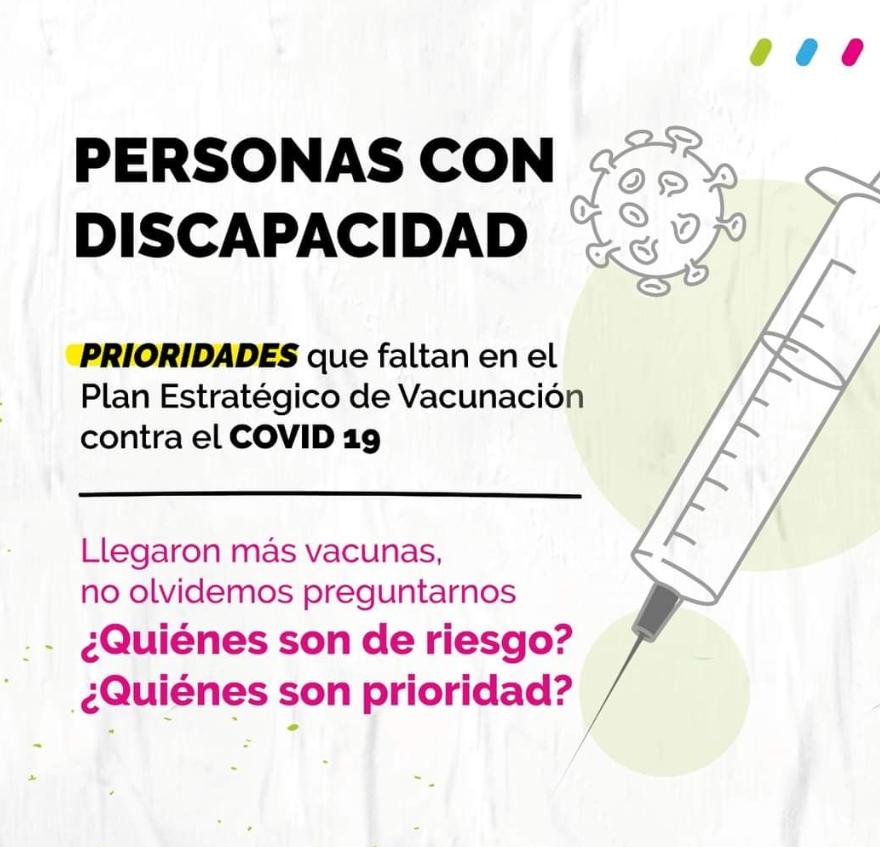 Desde la UCR Evolución aseguran que llegan más vacunas y las personas con discapacidad continúan olvidadas.