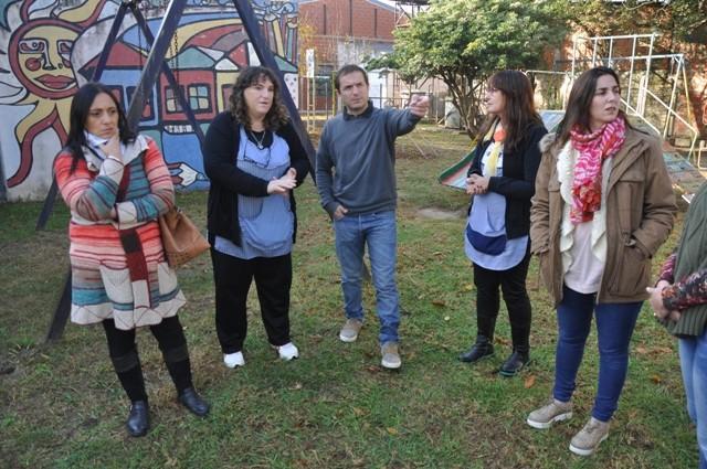 El Intendente visitó el jardín de infantes del barrio San Felipe