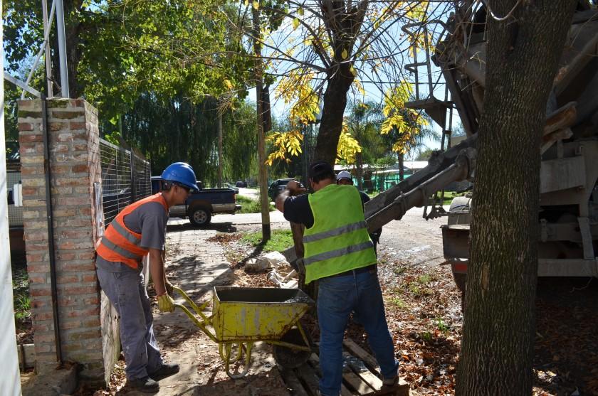 Se realizan obras de mejoras en el Jardín N° 913 de Las Praderas