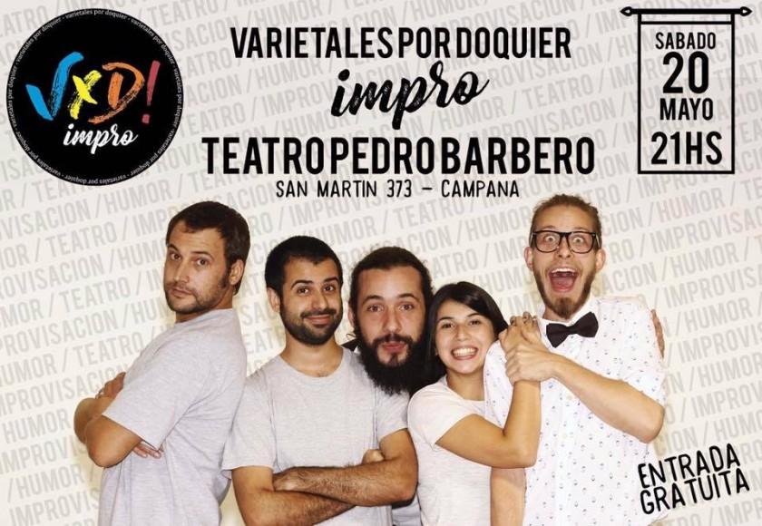 Un espectáculo de improvisación se suma a la cartelera del Pedro Barbero