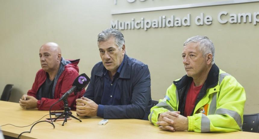 Tras el temporal, el Municipio desplegó múltiples operativos en distintos puntos de la ciudad