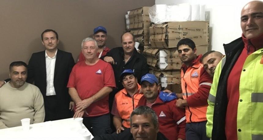 Abella felicitó al cuerpo de Defensa Civil y voluntarios por el trabajo realizado durante el temporal