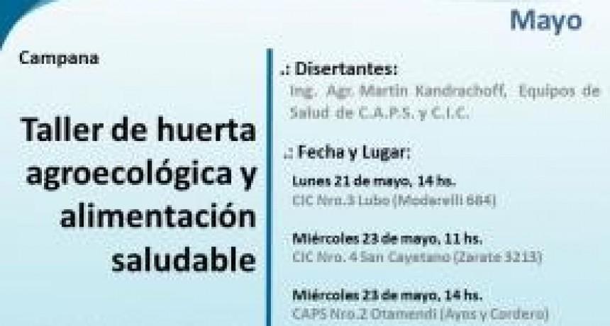 Campana, Barrio 9 de Julio: taller de Huerta agroecológica y alimentación saludable