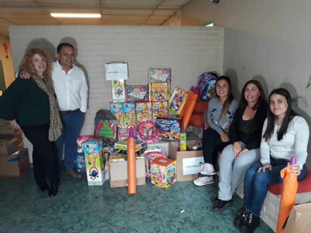El Hogar del Niño recibió donaciones de la empresa Archroma