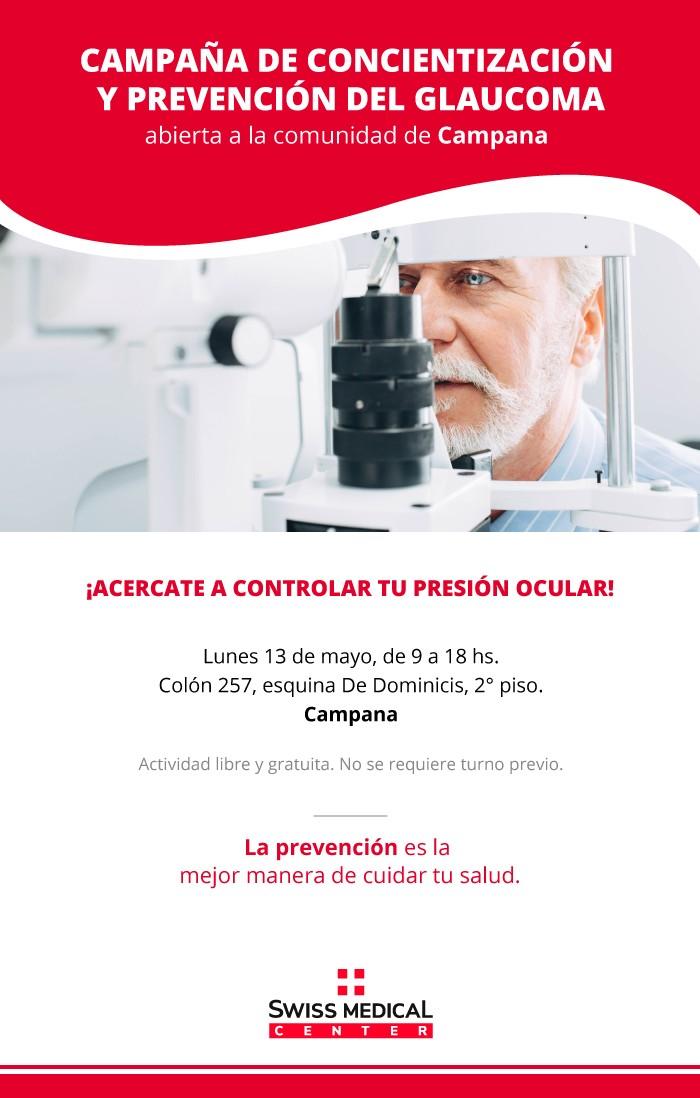 Campaña de concientización y prevención del Glaucoma en Campana