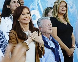 Romano acompañó a Cristina en la Feria del Libro