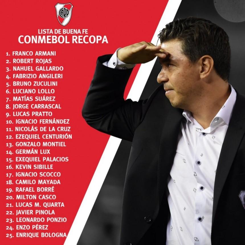 River Plate enfrenta a Atlético Paranaense en Brasil por la ida de la Conmebol Recopa