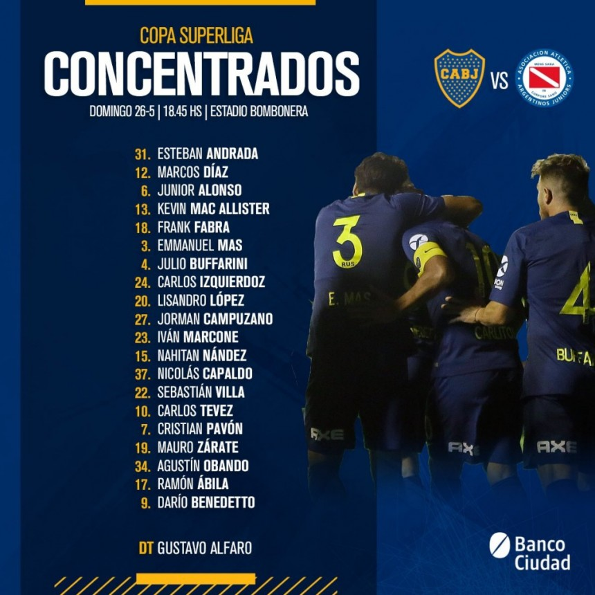 Boca Juniors buscará el pase a la final ante Argentinos Juniors