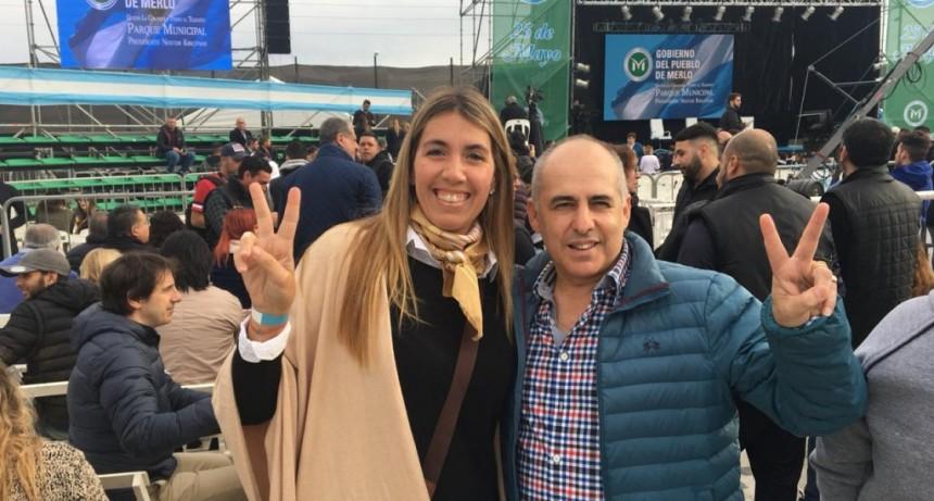 MARIU GIROLDI, PRESENTE EN EL ACTO DE PRESENTACION DE LA FORMULA FERNANDEZ-FERNANDEZ EN MERLO