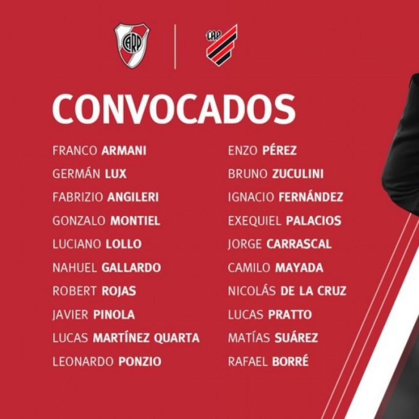 Los convocados de River Plate para la final contra Athletico Paranaense