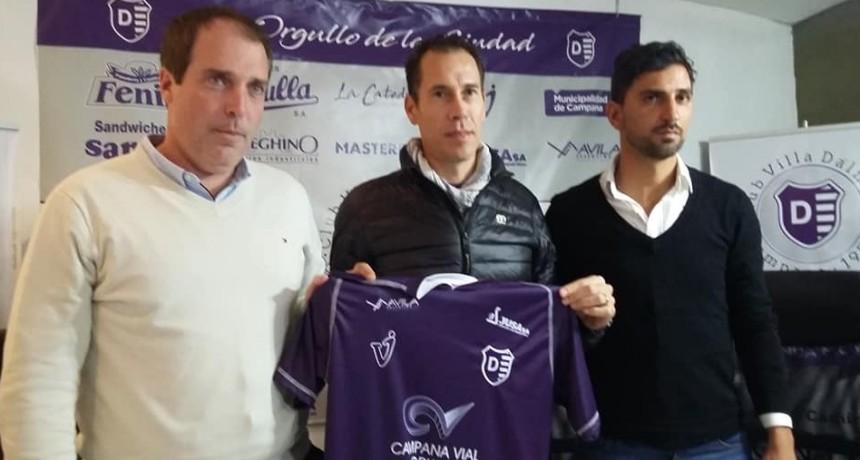 Lucas Bovaglio fue presentado como nuevo entrenador de Villa Dálmine