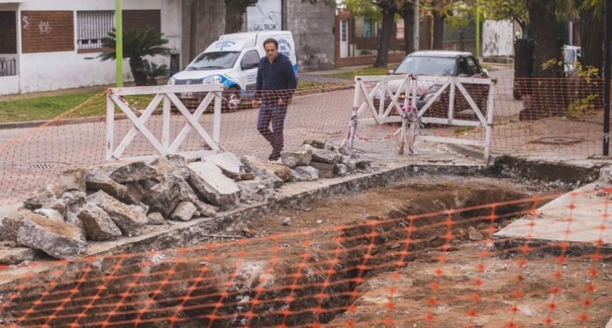 Plan de Bacheo Urbano de Hormigón: se reparan otros tres sectores  del casco urbano