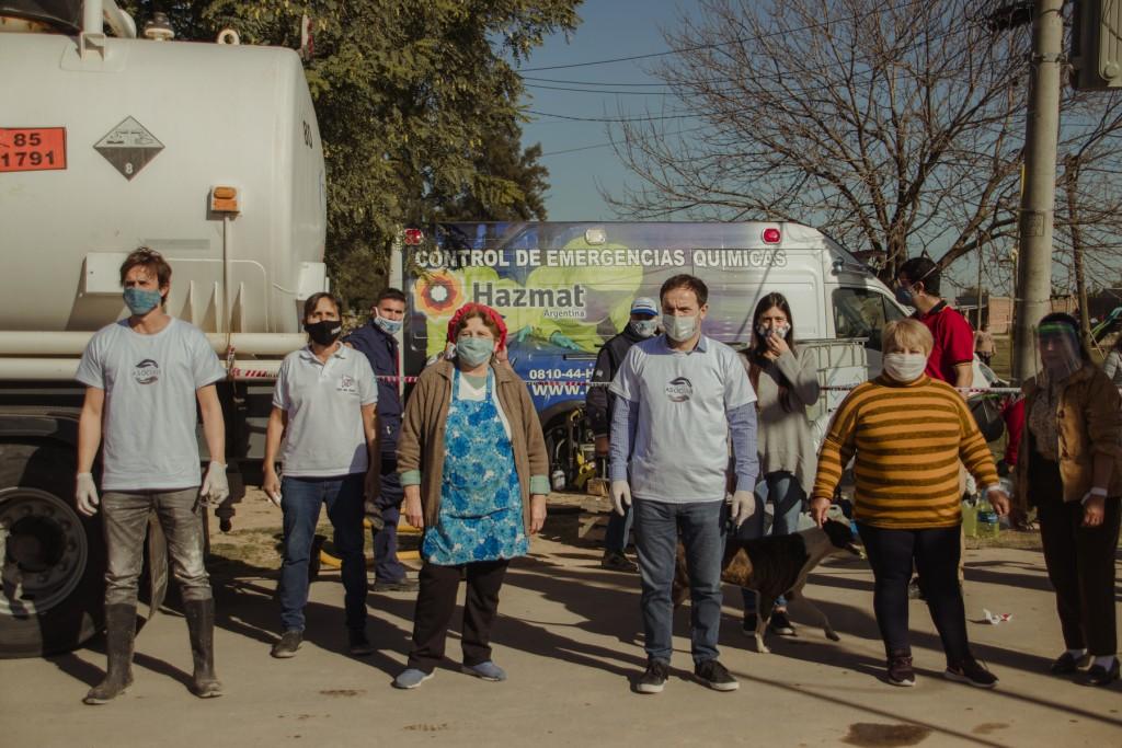 Exitoso operativo de sanitización en Las Praderas