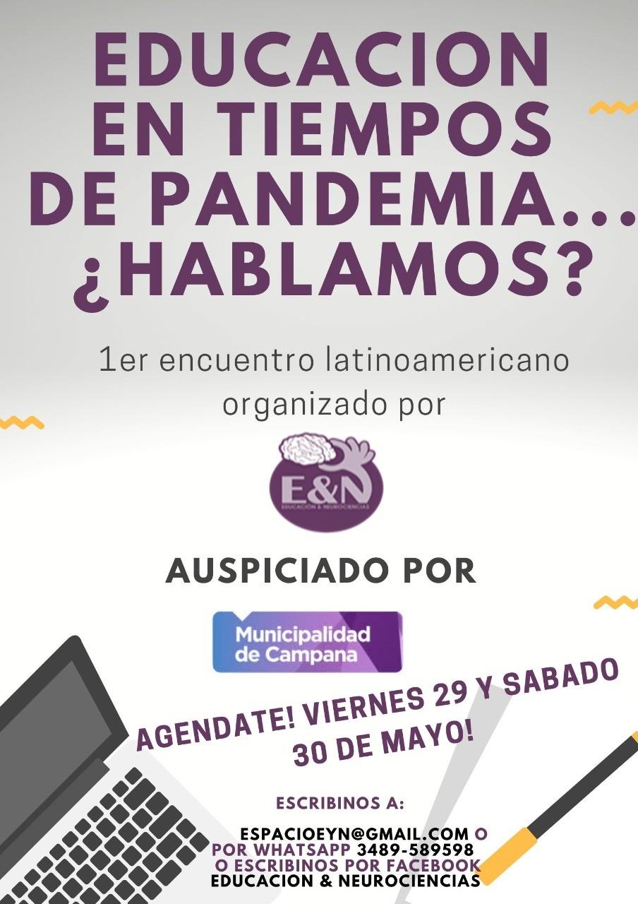 """Se realizará un encuentro virtual latinoamericano sobre """"Educación en tiempos de pandemia"""""""
