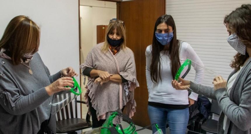 El Municipio entregó 400 máscaras de protección facial para docentes de escuelas locales