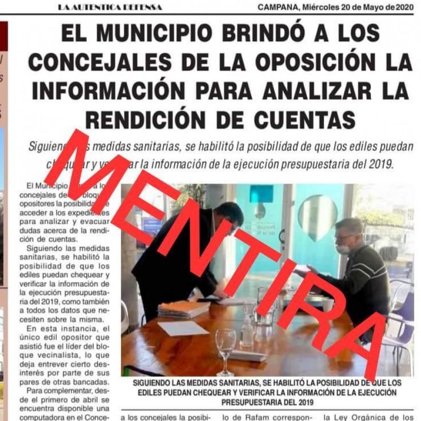 AXEL CANTLON DESMINTIÓ LA INFORMACIÓN DE PRENSA MUNICIPAL SOBRE ACCESO A LA INFORMACIÓN