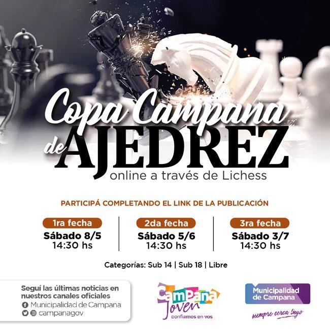 Este sábado comienza la Copa Ajedrez Campana