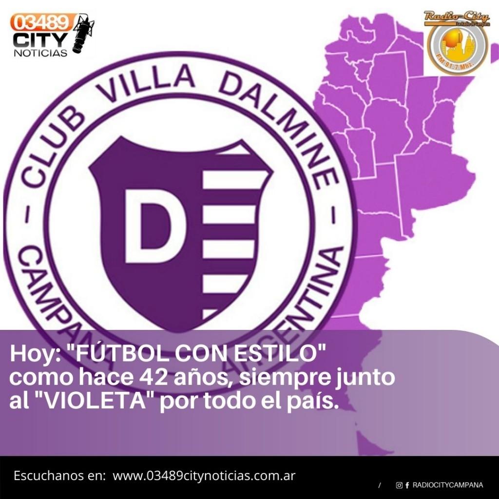 VILLA DALMINE RECIBE A SAN TELMO CON TRANSMISION DE RADIO CITY CAMPANA FM 91.7 Mhz