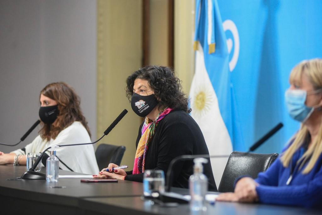 Conferencia de prensa de la Ministra de Salud  Carla Vizzotti