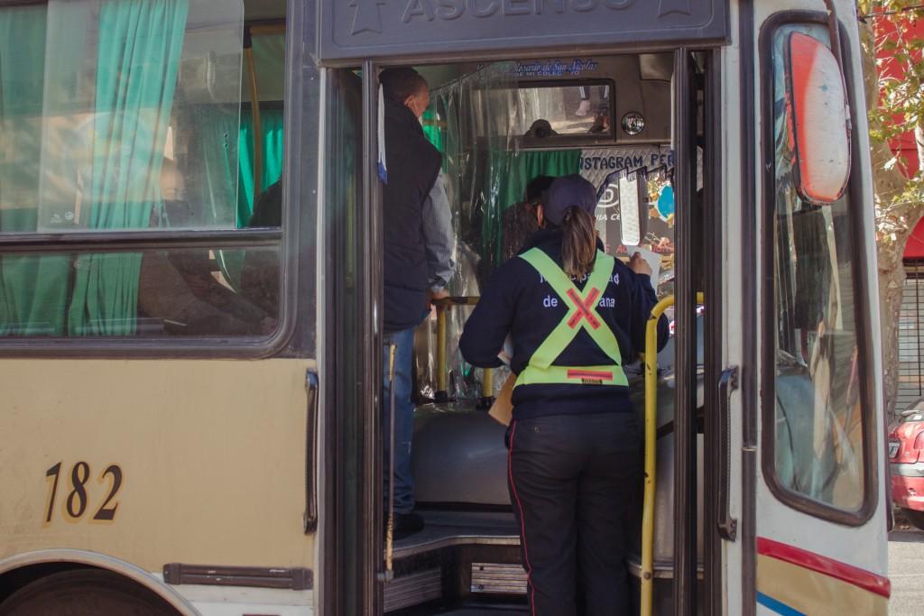 Continúan los controles de protocolos de Covid - 19 en el transporte público
