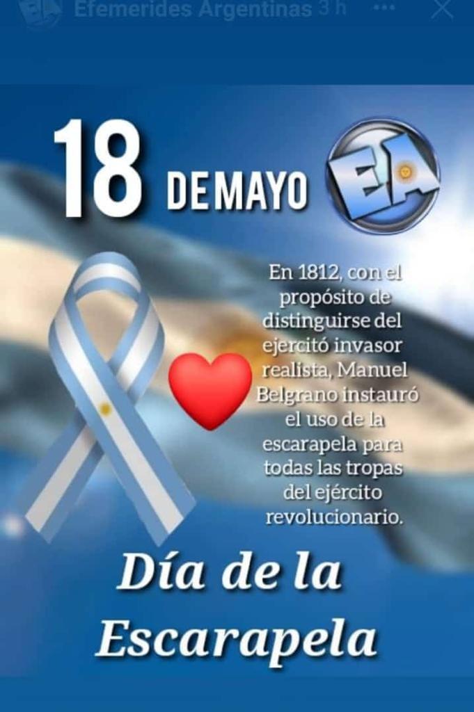 18 DE MAYO : DIA DE LA ESCARAPELA