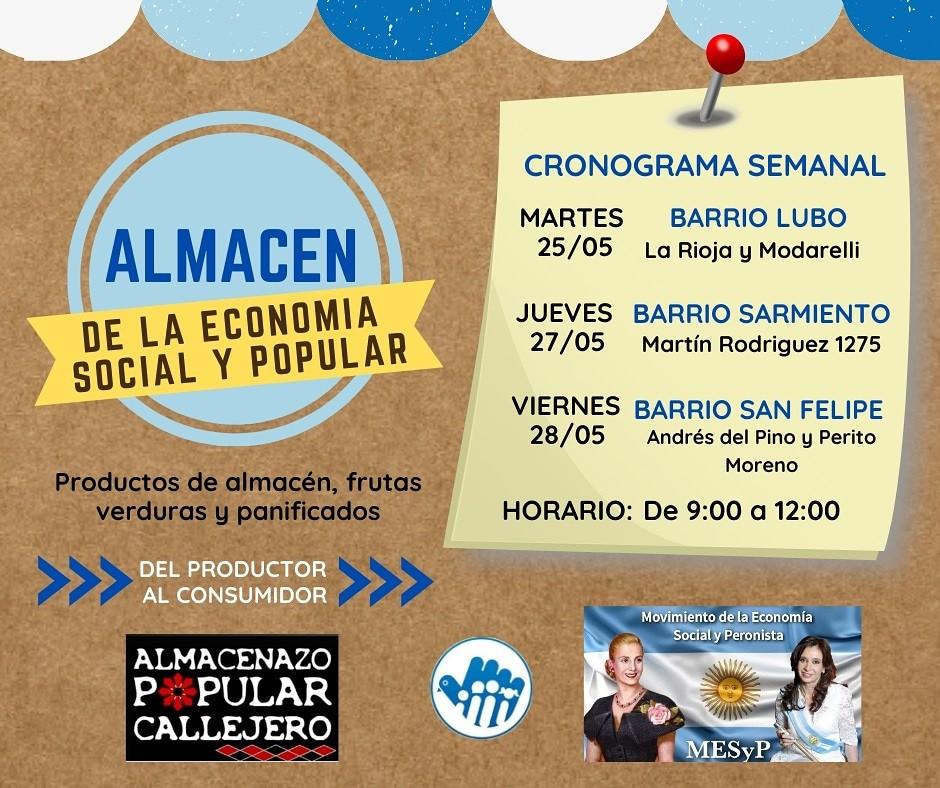Los barrios Lubo, Sarmiento y San Felipe  serán sede de los Almacenes Itinerantes
